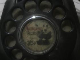 老黑色转盘电话机
