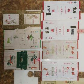 宝石(2)红梅(2)阿诗玛(1)翡翠(1)劲松(1)烟标7张