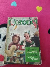 英文原版书 Coronet(1946年发行的,后封有中国上海学林书店股份有限公司标帖)
