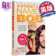 一只名叫鲍勃的流浪猫 英文原版小说 流浪猫鲍勃 一只名为鲍勃的街头流浪猫 当bob来敲门 真实故事 A Street Cat Nam
