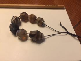 唐代 八棱 琉璃珠 7颗 老珠子都会有小伤