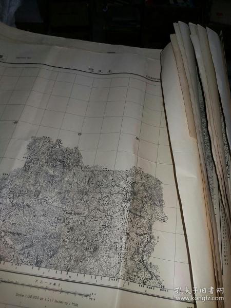 民国24年  地图  11张合售 (尺寸57 x 49)