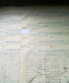 历史文献1956年民族联合社全年收入分配表十张合售
