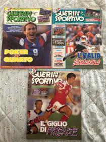 原版足球杂志 意大利体育战报1992年 25 26 27期 92欧洲杯全记录