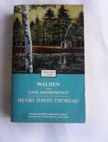 "Walden and ""Civil Disobedience ""   ( Enriched   Classic )    瓦尔登湖和论公民的不服从权利     英文原版"