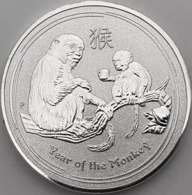 2016年澳大利亚十二生肖猴银币
