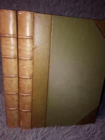 FELIX HOLT, THE RADICAL 2本全 THE WORKS OF GEORGE ELIOT 乔治•艾略特(George Eliot) 私坊DENNY 3/4真皮装帧 三面书口浅蓝色花纹 18.2X13CM