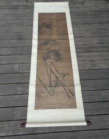 老画,有郑燮的风格,买家自己辨认:清代墨竹山水一幅