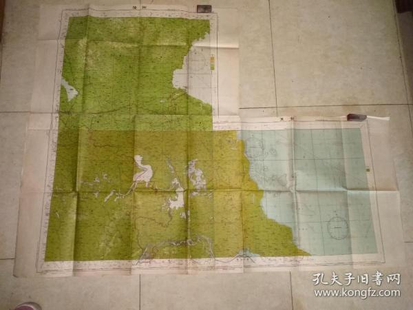 1951年徐州扬州东台三张地图粘成一大张地图