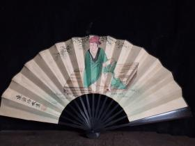 檀木折扇,长33厘米,宽61厘米!