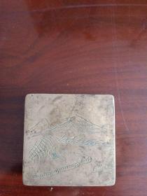 铜墨盒(包老)