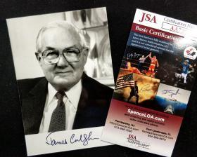 """""""全能首相"""" 詹姆斯·卡拉汉 签名照片 由全球三大签名鉴定公司之一JSA鉴定"""