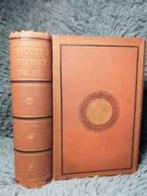 1867年 THE CANTERBURY TALES BY GEOFFREY CHAUCER 插图版  三面书口鎏金  18X13CM
