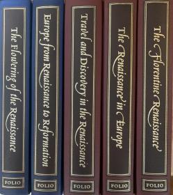 The History of the Middle ages  中世纪史大全 共5册  布面精装 封面烫花 铜版纸插图 豪华版  英国著名的Folio Society 版 (带套盒)