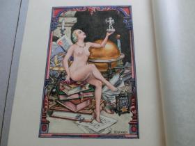 【百元包邮】《天使诱惑》系列之49 1932年彩色石版版画 多彩套印 法国著名插图画家 Cheri Herouard 作品 尺寸26*19.7厘米