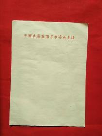 故纸犹香◆早期信笺之二:早期 中国共产党南京市委员会笺 竖式暗格(老信纸10张一组)