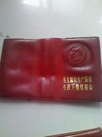 毛主席论无产阶级专政下继续革命、塑料皮