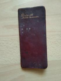 Diary with fndexed memorandum(民国1924年索引备忘日记本)THE  COMBINED  STANDARD  DIARY  AND   MEMORANDUM