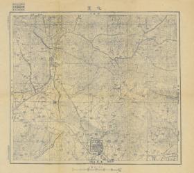 民国三十六年年(1947年)《张家口老地图》图题为《宣化》(全图包含宣化一部、万全一部、龙关县(赤城)一部、崇礼一部,张家口宣化万全龙关县赤城崇礼老地图)四至范围请看图左上角分幅表。全图绘制详细,比例尺十万分之一,晋察冀军区司令部印制、此图种非常稀少。张家口、宣化等县地理地名历史变迁史料。原图复制。