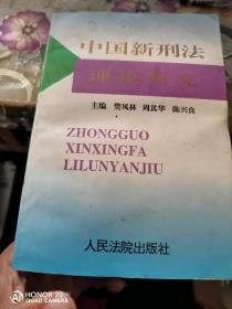 中国新刑法理论研究  签名本
