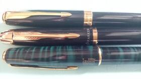 老派克圆珠笔3支不同合售 【保正品,全新未使用过 无笔芯,有分量有压手感 收藏佳品】
