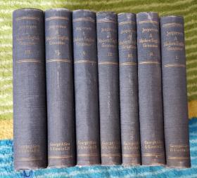 A  modern  English  grammar 7  vol