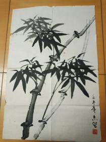 手绘真迹国画-竹子【不识款】