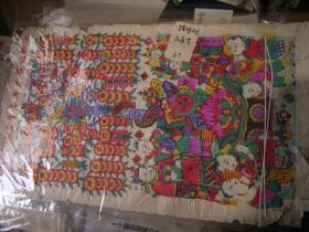 杨家埠木板年画- 摇钱树招财-多色套印老的