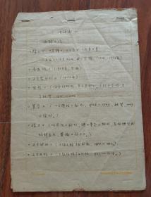 保真信札:唐弢(中国著名作家、文学理论家)六十年代手稿6页