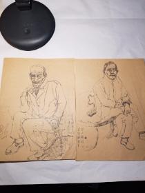 陕西西安年轻画家苟李锋人物素描一组