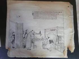 点石斋画报,之南京旧闻《割须求婚》,光绪原版,随申报附送的,包真