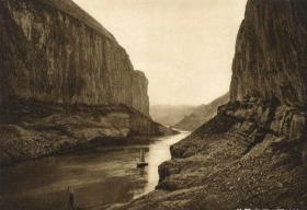 百年前德国人拍摄的有关三峡景观老照片10张5吋的