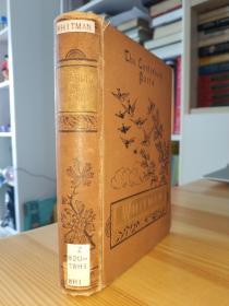 1886年草叶集 Leaves of grass: The poems of Walt Whitman (The Canterbury poets)  精装小本