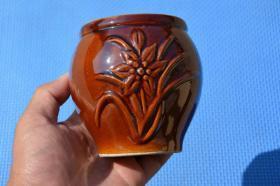 十几年历史的 小陶瓷罐  老物件摆设