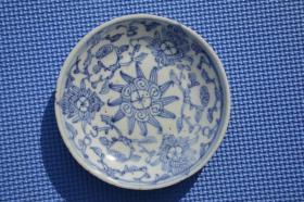 清代 丙太款 青花瓷 老瓷盘瓷碟 有小冲