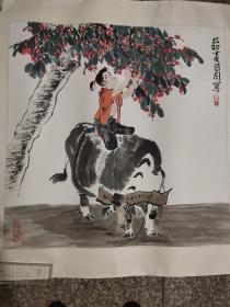 原装表上海美术家协会会员 司同作品一幅