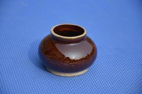 几十年历史的 民俗 老虾酱陶罐