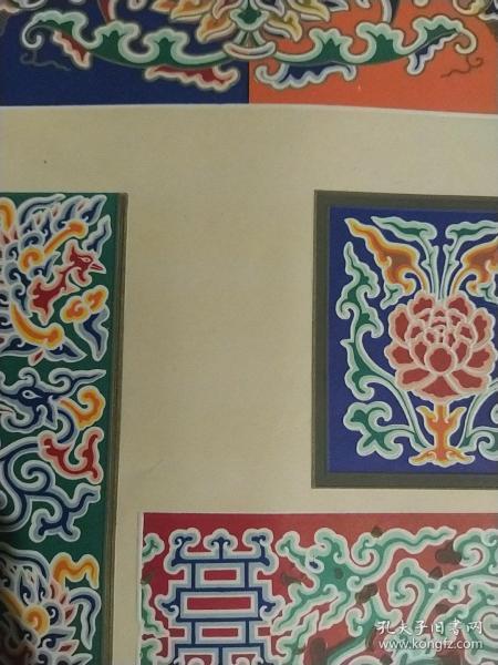 民间古建彩图二十八之椽子柁头檩子垫板枋子箍头等各式细部彩画(七种)