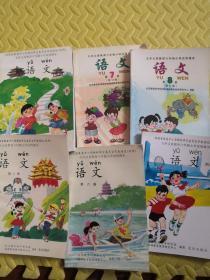 九年义务教育六年制小学试用课本 语文(第2.3.4.6.7.8册)6册合售 彩图本