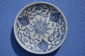 清代 四季花卉 青花瓷 老瓷盘瓷碟