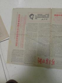 文革报纸 湖北农民报1967年3月28日.总第21期(八开四版)