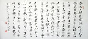 孙晓云  行书横幅  手写书法节录《落花诗》