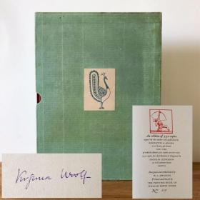 【珍本】英国著名女作家弗吉尼亚·伍尔夫亲笔签名限量本Beau Brummell《博·布鲁梅尔》带水印手工纸毛边本,1930年美国Rimington&Hooper初版初印 限量编号550册(500册对外出售)W.A. Dwiggins设计并插图,William Edwin Rudge印刷装帧 品相不错 保存完整 十分难得【国内现货】伍尔芙 弗吉尼亚 伍尔夫Virginia Woolf