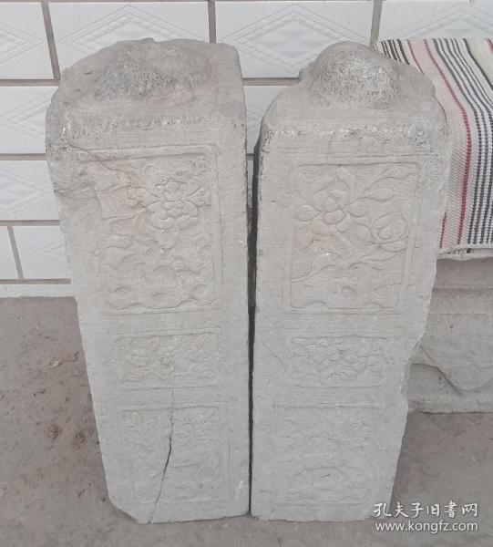 清代山西地方经典石雕----《晋东南民间门墩石》-----一对--------虒人荣誉珍藏