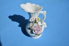 漂亮的江西瓷 花团锦簇 老瓷瓶漱口盂 有小磕 少见