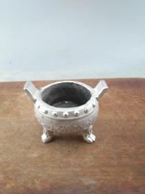 藏银老香炉A8975..