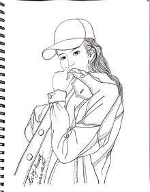 Lily肖像速写8开