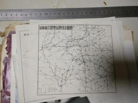 河南省公路客运路线示意图      ,原物照相,没有版权,应该文革时期的
