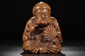 清代:竹雕悠闲图