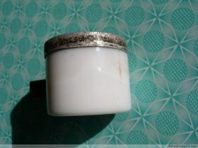 50年代 白熊脂瓷瓶 丽来化妆品厂 老瓷瓶